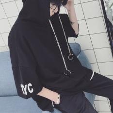 Tipis Lengan Pendek sweater Hooded Pria Trend dari Korea Siswa-Intl