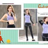 Tiga Set Gym Women Olahraga Bras Olahraga T Shirt Menjalankan Kecepatan Kering Yoga Pakaian Olahraga Celana Intl Oem Murah Di Tiongkok