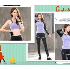Harga Tiga Set Gym Women Olahraga Bras Olahraga T Shirt Menjalankan Kecepatan Kering Yoga Pakaian Olahraga Celana Intl Asli
