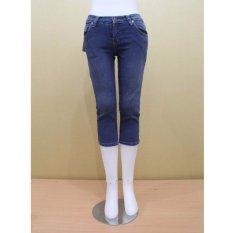 THREESIXTY Celana 7/8 // celana jeans // wanita - biru muda