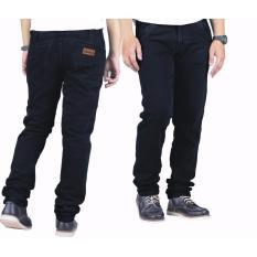 Beli Threesixty Jeans Panjang Standart Pria Black Cicil