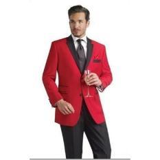 Thundercloth - 1 Stell Jas Dan Celana Red Blazer Minimalis