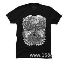 THW1 Brand T-shirt Men 2017 Fashion Moth Moon Mandala Graphic T Shirt - Design Bys