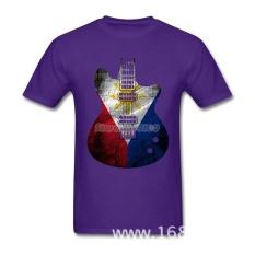 THW2 GRATIS SHIPPINGGuitar Bendera Bendera Filipina TEE SHIRT Pria Pria Kreatif Putih Lengan Pendek Custom Big Size Tshirts-Intl