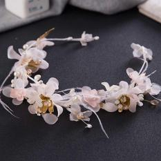 Jual Tiaras Veil Feather Women Hair Accessories Elegant Fascinator Western Style Wedding Party Headpiece Fashion Headwear Intl Oem Di Tiongkok