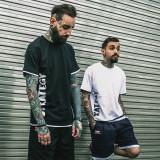 Toko Tide Merek Di Eropa Dan Amerika Musim Panas Palsu Dua Lengan Pendek T Shirt Hitam Baju Atasan Kaos Pria Kemeja Pria Termurah
