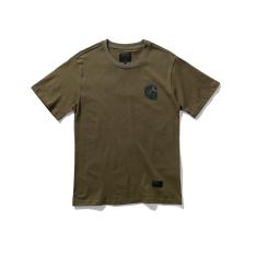 Trendi Kaos Gaya Jepang Lengan Bang Pendek Baju Dalaman Katun Gambar (Tentara Hijau)