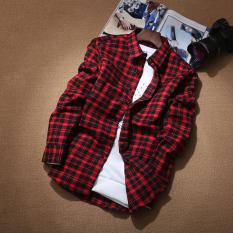 Kemeja Gaya Jepang Musim Gugur Baju Dalaman Pria Kasual (No 2 warna)