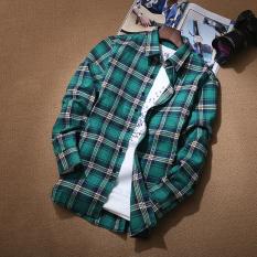 Kemeja Gaya Jepang Musim Gugur Baju Dalaman Pria Kasual (Nomor 9 warna)