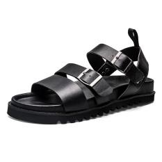 Harga Tide Merek Martin Hitam Bergerigi Bawah Pantai Sepatu Sandal Hitam Sepatu Pria Sepatu Sendal Di Tiongkok