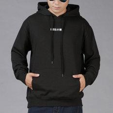 Harga Tide Merek Untuk Meningkatkan Longgar Pria Jaket Sweater Hitam Baju Atasan Sweter Pria Tiongkok