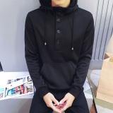 Jual Beli Tide Merek Versi Korea Dari Hitam Laki Laki Berkerudung Jaket Olahraga Pullover Berkerudung Sweater Wy8082 Hitam Baju Atasan Sweter Pria Tiongkok