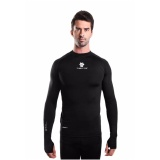 Review Tiento Baselayer Long Sleeve Thumbhole Black White Baju Kaos Lengan Panjang Ketat Manset Rashguard Compression Base Layer Olahraga Lari Sepak Bola Futsal Voli Running Renang Diving Sepeda Golf Original Terbaru