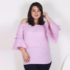 Jual Tiffany Plaid Blouse Big Size Body Big Size Original