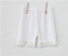 Tiga Titik Model Musim Panas Gadis Anti Celana Pendek Dalaman Celana (Putih)