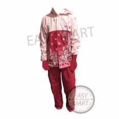 Spesifikasi Tiger Head Raincity Jas Hujan Batik Sekar Merah Yang Bagus Dan Murah
