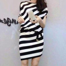 Tilt Stripe RSQ / dress korea / gaun stripe / dress bangkok / dress selutut / dress wanita simple kasual