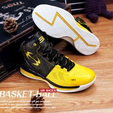 Tinggi Negara dari Model Musim Gugur Bola Keranjang Sol Tebal Baru Kets Pria Sepatu Pria (Kuning)