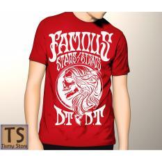 Tismy Store Kaos Famous Stars DT PC2 - Merah