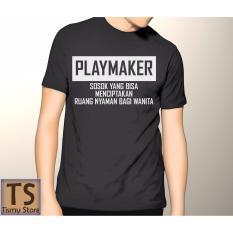 Tismy Store Kaos Playmaker #1 - Hitam