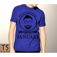 Beli Tismy Store Kaos Semua Pria Diciptakan Sama Tetapi Yang Terbaik Lahir Di Bulan Januari 3 Pc1 Biru Kredit
