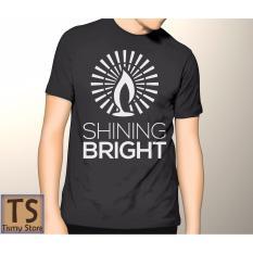 Harga Tismy Store Kaos Shining Bright Hitam Murah