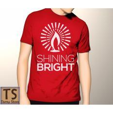 Harga Tismy Store Kaos Shining Bright Pc2 Merah Terbaru