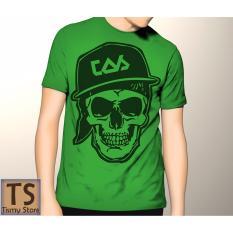 Tismy Store Kaos Skull Cap PC1 - HIjau