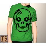 Jual Tismy Store Kaos Skull Star Pc1 Hijau Antik