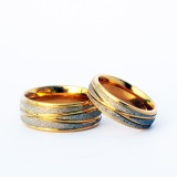 Jual Titanium Cincin Couple Fresh Golden Ring Titanium Grosir