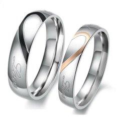 Titanium Cincin Couple / Tunangan / Kawin CR015