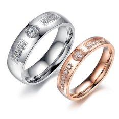 Titanium Cincin Couple / Tunangan / Kawin CR019