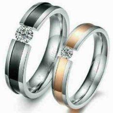 Titanium Cincin Couple / Tunangan / Kawin CR029