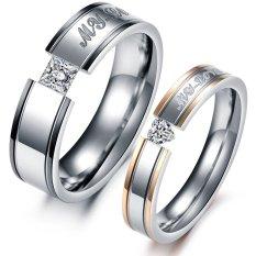 Toko Titanium Cincin Pasangan Gs264 Yang Bisa Kredit