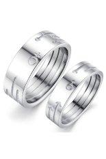 Harga Titanium Cincin Pasangan Gs297 Online
