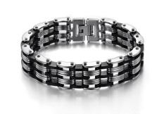 Harga Titanium Gelang Tangan Black Bracellet New