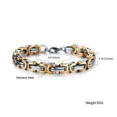 Cuci Gudang Titanium Gelang Tangan Gold Ft Silver Bracellet