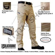 Blackhawk-Celana Tactical Blackhawk Panjang PDL Kargo Long Pants [Krem]