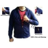Tjincollection Jaket Pria Casual Trendy Biru Navy Asli