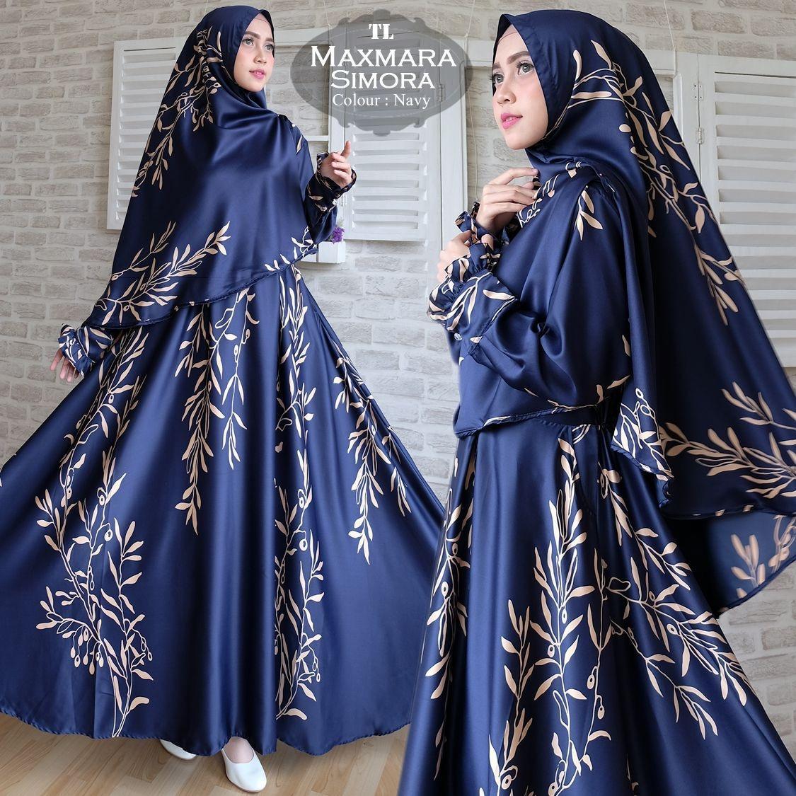 Murah Baju Original Gamis Habibah Syari Dress Panjang Muslim Monalisa Merah Ut Tl Bagindo Collection Jumbo Simora