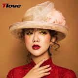 Jual Cepat Tlove Linen Topi Topi Pelindung Sinar Matahari Modis Wanita Musim Panas Baru Warna Alami