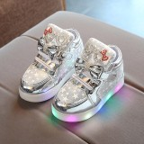 Balita Bayi Fashion Sneakers Star Luminous Anak Casual Sepatu Lampu Penuh Warna Intl Murah