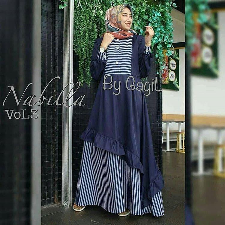 ... BELLA MAROON - COKSU ( Dapat TOF Gamis Wanita Gamis Syari Dress Wanita Muslim Murah NEW NABILA VOL3 DRESS