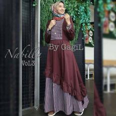 TOF Gamis Wanita Gamis Syari Dress Wanita Muslim Murah NEW NABILA VOL3 DRESS