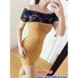 Dimana Beli Toko Grosir Dress Mini Dress 8026 Yellow Gsd