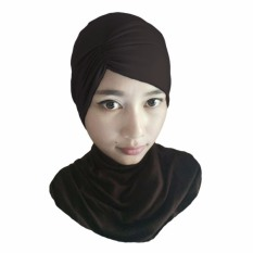 Gita Sukma Hijab Ciput Kerut Risty - Coklat