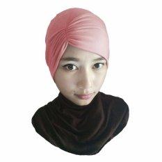 Gita Sukma Hijab Ciput Kerut Risty - Dusty Pink