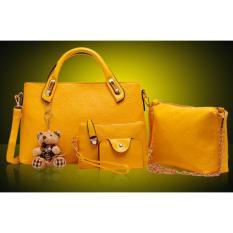 Beli Toko49 4In1 Tas Fashion Wanita Tas Batam Paket 4 Pcs Warna Kuning Pakai Kartu Kredit