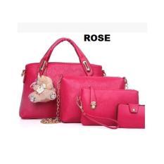 Harga Toko49 4In1 Tas Fashion Wanita Tas Batam Paket 4 Pcs Warna Pink Merk Toko49