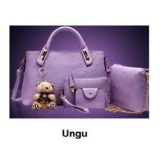 Toko Toko49 4In1 Tas Fashion Wanita Tas Batam Paket 4 Pcs Warna Ungu Online
